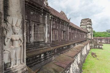 The walls of Angkor Wat