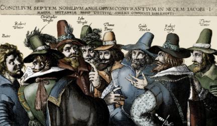 The Gunpowder Treason Plot to Blow Up British Parliament in 1605