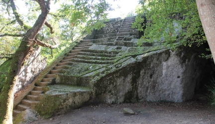 Etruscan Pyramid of Bomarzo, Italy