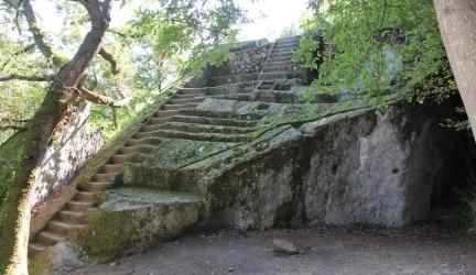 Etruscan Pyramid of Bomarzo, Italy