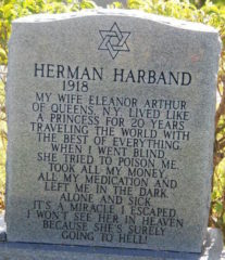 Headstone of Herman Harband. Credit: unknown.