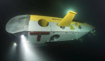 ROV surveying the shipwrecks in the black sea