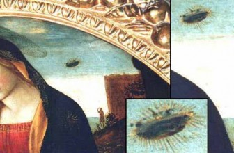 Madonna with Saint Giovannino: Painting with a UFO?