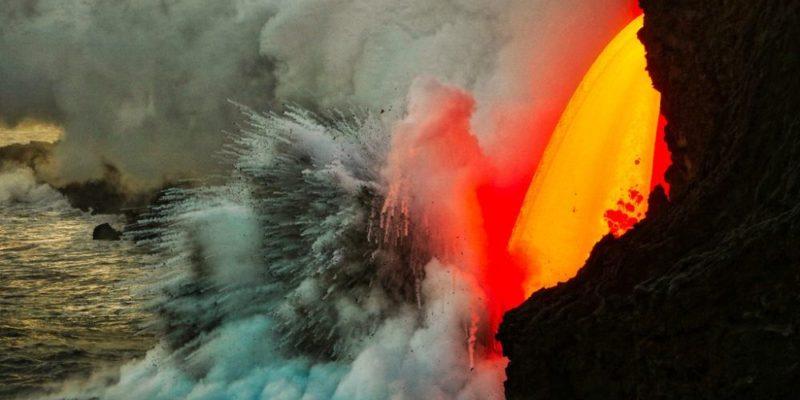 Hawaii's Kilauea Volcano Firehose Lava
