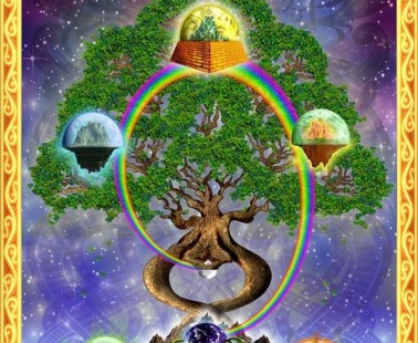 Yggdrasil World Tree and Nine Realms of Norse Mythology